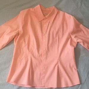 Merona 3/4 Sleeves Pink Button Up (M)